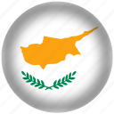 circle, cyprus, flag, world icon