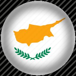 circle, cyprus, flag, world icon