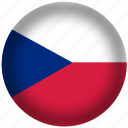 circle, czech republic, flag, world icon