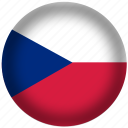 circle, czech republic, flag, world icon