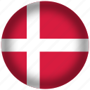 circle, denmark, flag, world icon