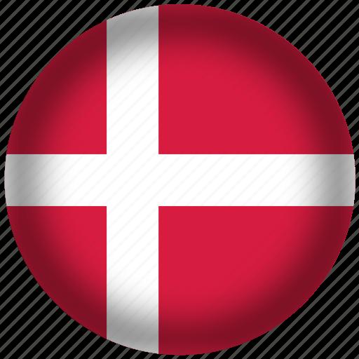 circle, denmark, flag, world icon