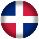 circle, dominican republic, flag, world icon