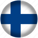 circle, finland, flag, world icon