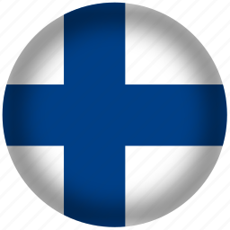 circle, finland, flag, world icon