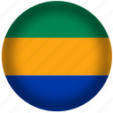 circle, flag, gabon, world icon