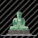 buddha, japan, kamakura, landmark, religion, statue, temple icon