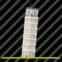building, italy, landmark, leaning, pisa, tower, travel icon