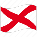 alphabet, international, letter v, maritime, nautical flag, victor, waving flag icon