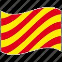 alphabet, international, letter y, maritime, nautical flag, waving flag, yankee icon