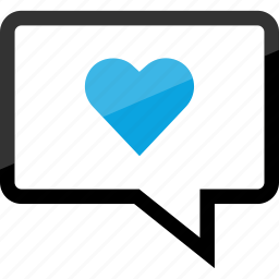 chat, heart, love, sms icon
