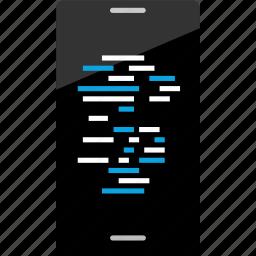 code, hacker, hacking icon