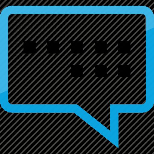 bubble, chat, conversation, online icon