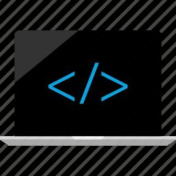 development, laptop, mac icon