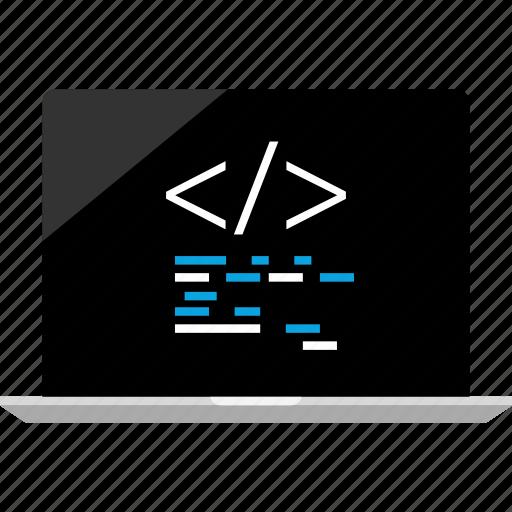 code, internet, online icon