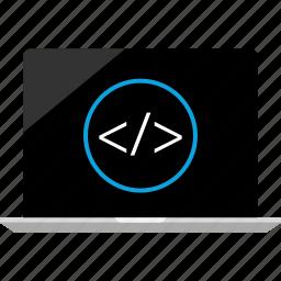 laptop, mac, online, web icon