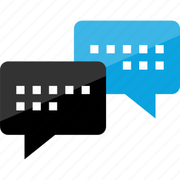 conversation, message, text icon