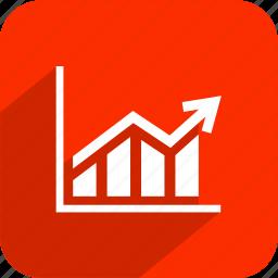 arrow, chart, diagram, graph, statistics icon