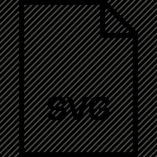 extension, file, name, svg illustrator icon