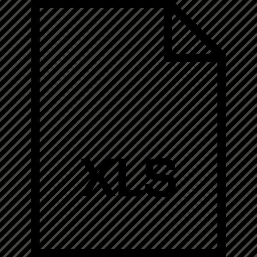 extensio, file, name, xls icon
