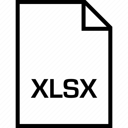extension, file, name, xlsx icon