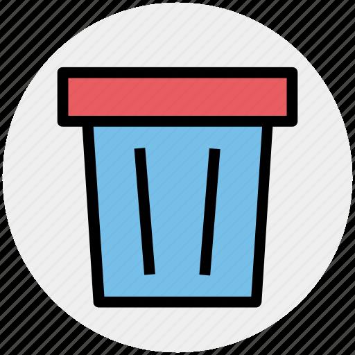 dustbin, garbage can, rubbish bin, trash can, waste bin icon
