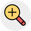 magnifying glass, search in, search tool, tool, view, zoom icon
