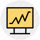 heartbeat, monitor screen, rhythm, screen, screen rhythm icon