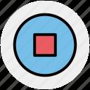 media button, media stop, power button, shut down, stop, stop sign icon