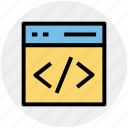 html, hypertext markup language, programming, website coding, website programming icon