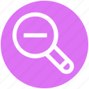 .svg, magnifier, magnifying glass, search out, search tool, searching tool, zoom out