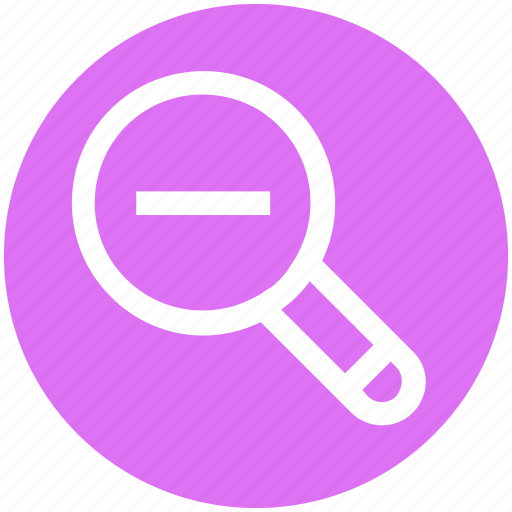 .svg, magnifier, magnifying glass, search out, search tool, searching tool, zoom out icon