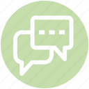 .svg, chat, chat boxes, online chatting, online conversation, talk sign icon