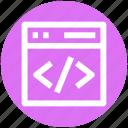 .svg, html, hypertext markup language, programming, website coding, website programming icon