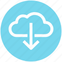 .svg, cloud and download sign, cloud computing, cloud download, cloud downloading, cloud network