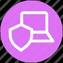 .svg, internet security, internet security concept, laptop, laptop with shield, security concept icon