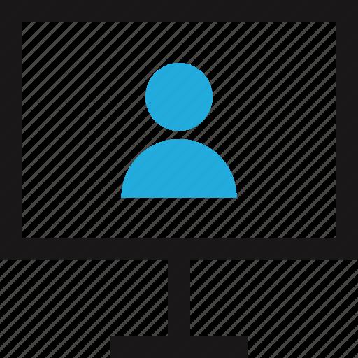 computer, data, internet, profile icon