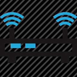 data, internet, router, wifi icon