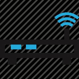 antenna, data, internet, router, single icon