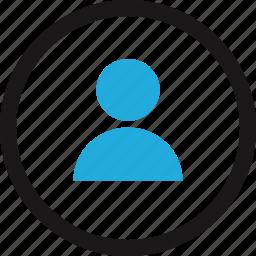 circle, data, internet, profile, user icon