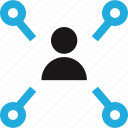data, internet, user icon