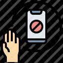 abandon, stop, banned, no phone, digital detox