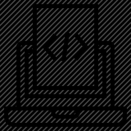 code files, coding, computer, html, html development, programming, software development icon