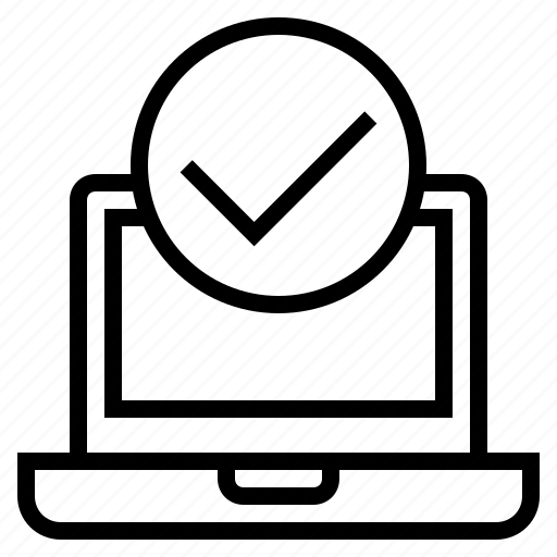 clean computer, computer, computer scanned, laptop, pc scanned, verification icon