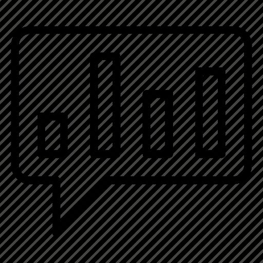 bubble, chart, graph, statistics icon
