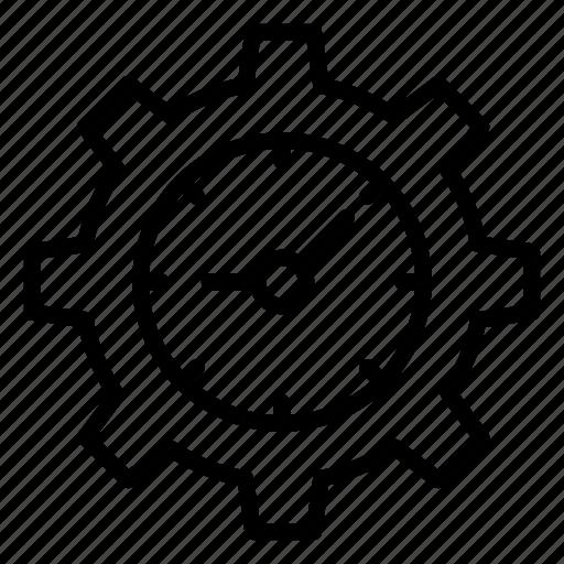 clock, development, process, setting icon
