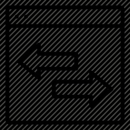 arrow, direction, page, transfer, web icon