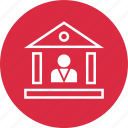 bank, banker, loan, profile, user icon