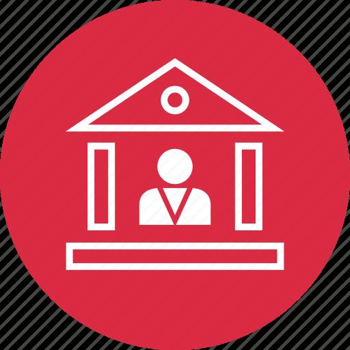 bank, banker, loan, profile, user icon