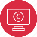 circle, coin, computer, currency, euro icon